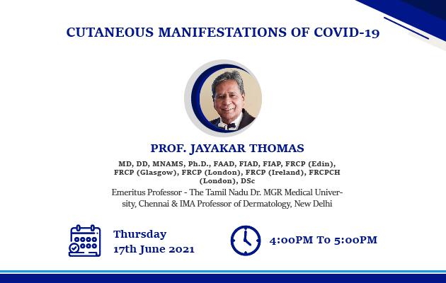 Cutaneous Manifestations of COVID-19