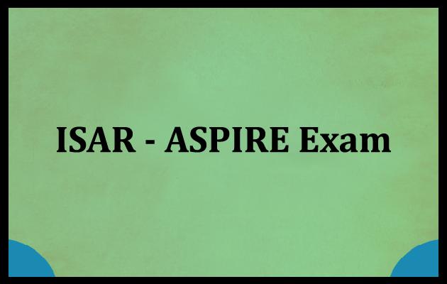 ISAR-ASPIRE Entrance Exam
